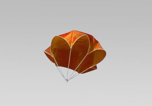 "18"" Neon Orange Nylon Parachute - Click Image to Close"