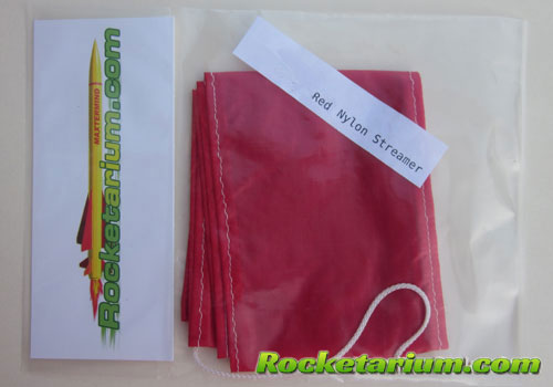 3 x 30 Red Nylon Streamer