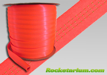 "1"" Tubular Nylon. Neon Orange for Greater Visibility"